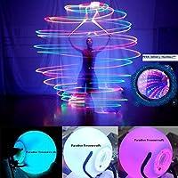 Paradise Treasures LED Poi Ball Swirling Light-up Rave Toy con collar de túnel infinito, juego de 2