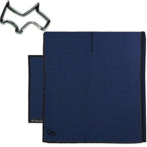 Club Glove Retail Microfiber Tandem golf towel set (Caddy and Pocket Towel) + Towel Ring, (Club Glove Golf)