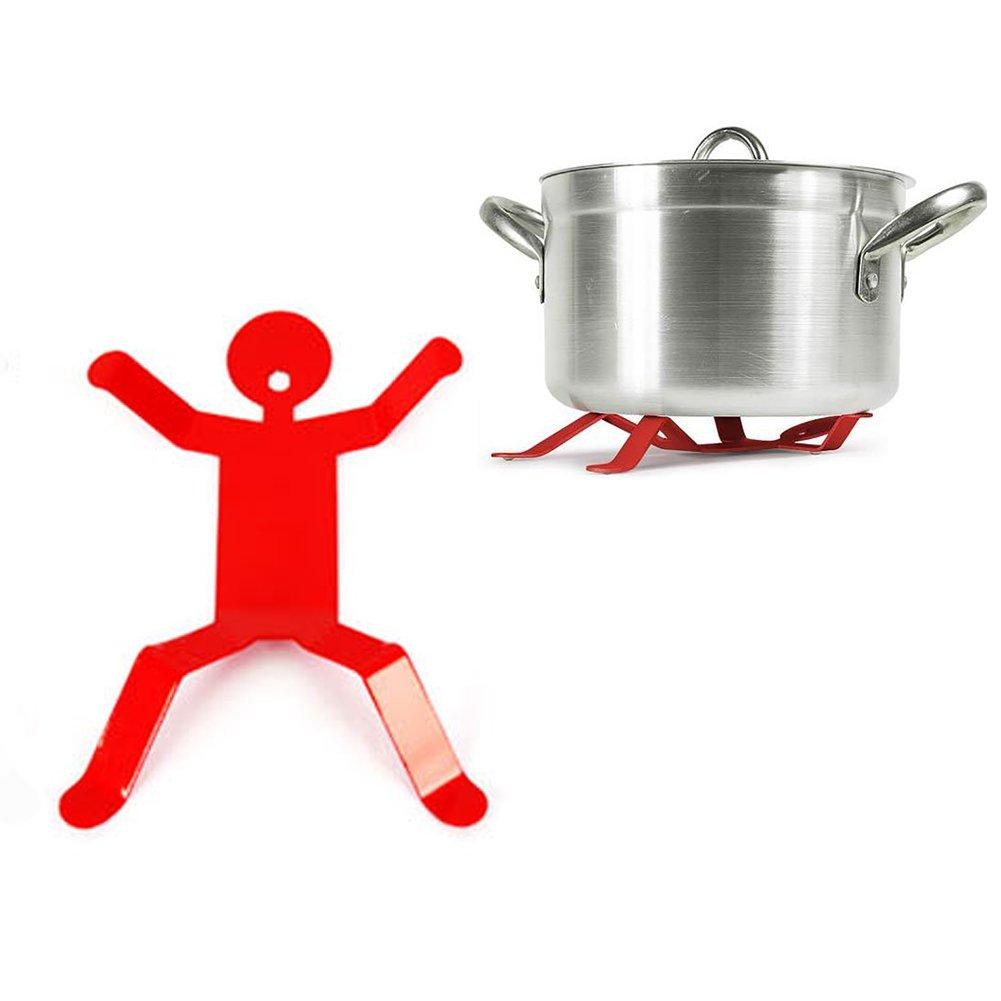 Fivebop Anti Heat Pressure Durable Small Iron Hotman Trivet Pot Holder (Black) COMIN16JU028361