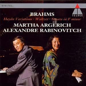 Brahms: Haydn Variations; Waltzes; Sonata in F minor