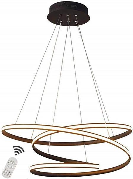 Diseño De Anillo Luz Colgante LED Lámparas De Araña Mesa De Comedor Sala De Estar Candelabros con Control Remoto Moderna Redonda Iluminación De Techo Dormitorio para Niños Restaurante Plafón,50cm: Amazon.es: Hogar