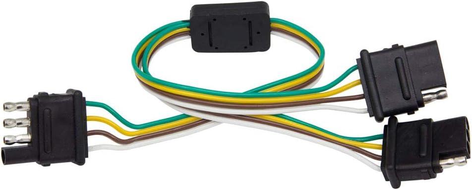 Amazon.com: LEDGlow Truck Flat 4 Pin Y-Splitter Adapter Trailer Harness -  Powers Both Tailgate LED Light Bars & Trailer Lights: Automotive | Split 4 Pin Trailer Wire Harness |  | Amazon