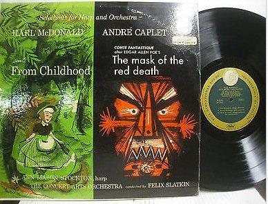 Ann Mason Stockton Mcdonald Suite From Childhood.& Caplet Red Mask Of Death. Slatkin. LP