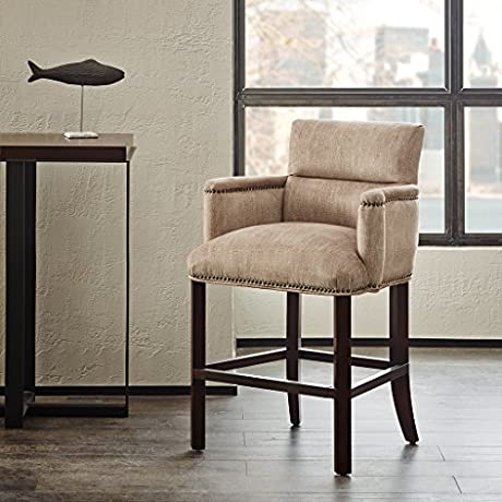 Round Arm Counter Stool Clairmont Taupe