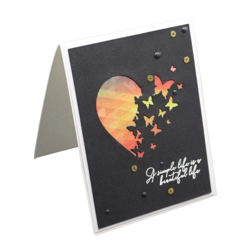 Heart Butterfly Metal Cutting Dies Carbon Steel border Stencil DIY Scrapbooking Paper Stamp Album Embassing Paper Decor