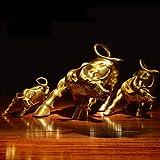 Feng Shui Fortune Brass W Street Bull