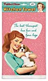 ''The Best Therapist Has Fur & Four Legs-Dog Therapist'' 100% Cotton Eco-Friendly Dish Towel, Kitchen Towel With Hanging Loop, Dog Themed Kitchen Towel