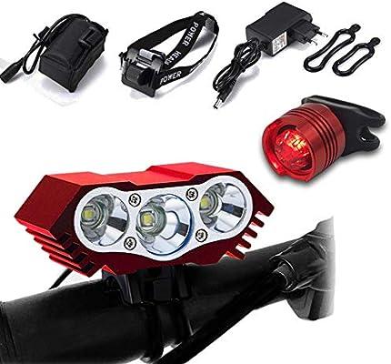 LYNOON Luces Bicicleta, Luz Frontal Bici Luces Bicicleta Delantera ...