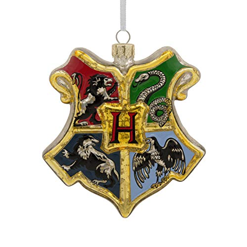 Hallmark Christmas Ornaments, Harry Potter Hogwarts Crest Blown Glass Ornament