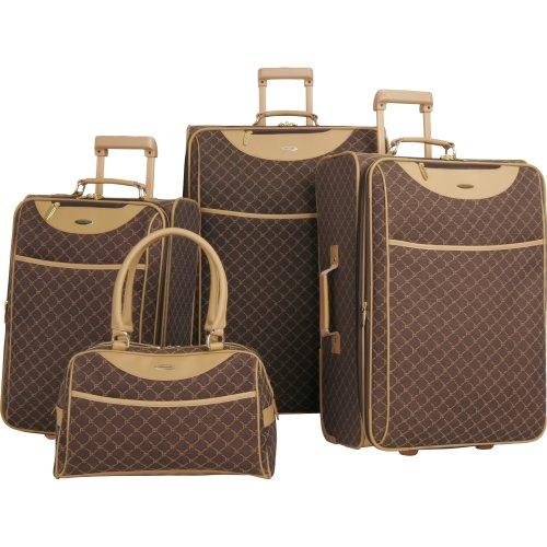 Pierre Cardin Signature 4 Piece Luggage Set, Brown, One Size