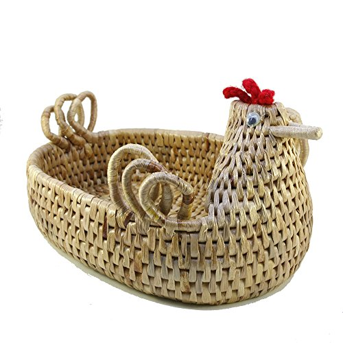 ThaiM Easter egg basket Woven Handmade Water Hyacinth Storage kid Baskets (Devil Man Adult Vest)
