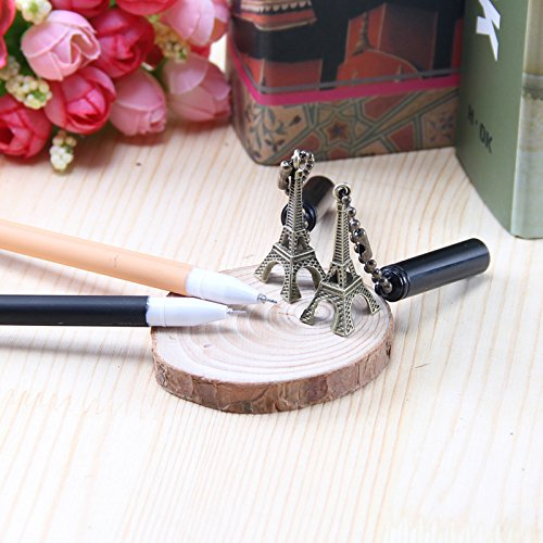 Eiffel Tower Pendant British Wind Pen Pen Fine Student Stationery Office Supplies Stylo Kawaii Gel Pens by Office & School Supplies YingYing (Image #2)