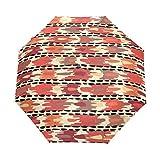 WIHVE Africa Art Culture Paisley Umbrella Auto Open Close Windproof Compact