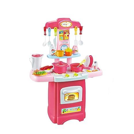dd4f89d06970 Blueseao Kitchen Set Toy, Girls Pretend Play Food Electronic Kitchen Set  Cutlery Combination Set
