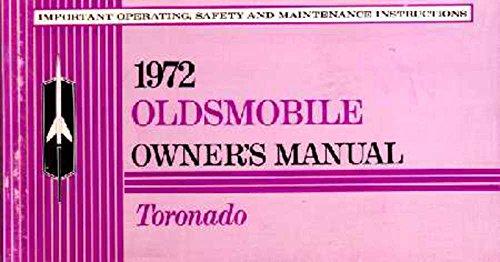 bishko automotive literature 1972 Oldsmobile Toronado Owners Manual User Guide Reference Operator Book Fuses