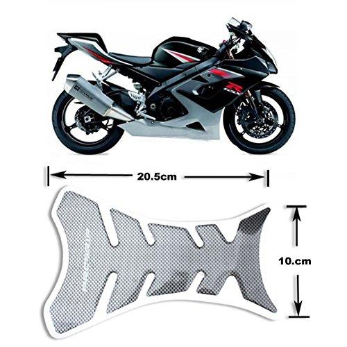 Demiawaking Autoadesivo del Serbatoio del Motociclo della Fibra di Carbonio Proteggi Serbatoio Universale per Moto Nero