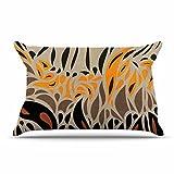 KESS InHouse Viviana Gonzalez ''Africa - Abstract Pattern I'' Brown Orange Pillow Sham, 40'' x 20''
