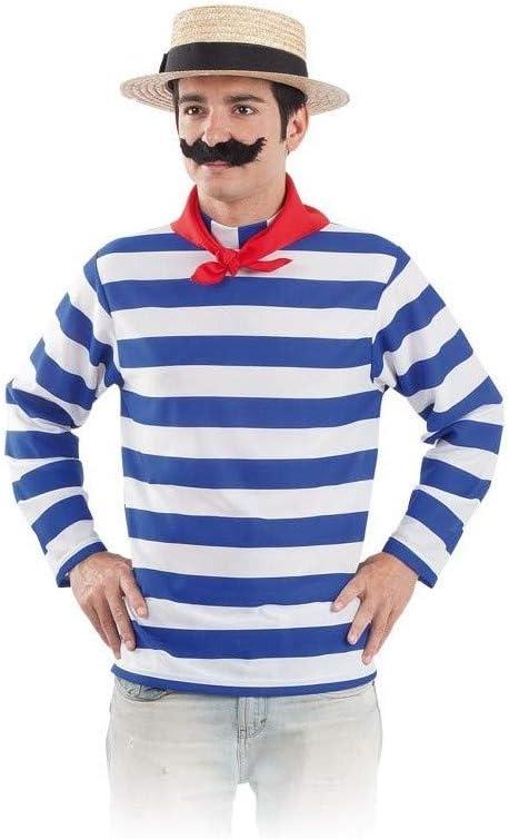 DISBACANAL Camiseta gondolero Adulto: Amazon.es: Juguetes y juegos