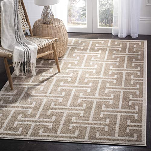 Safavieh Amherst Collection AMT404S Geometric Area Rug, 9 x 12 , Wheat Beige