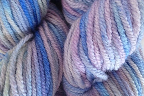 River Mist Handpainted Hand Painted Lavender Blue Italian 100% Wool Worsted Yarn