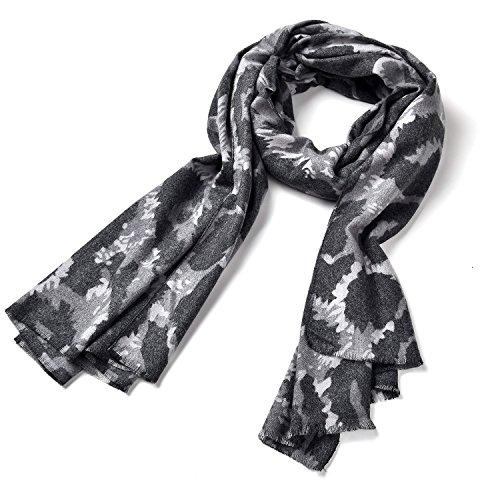 Onnea Large Camouflage Pashmina Warm Scarf (Grey)