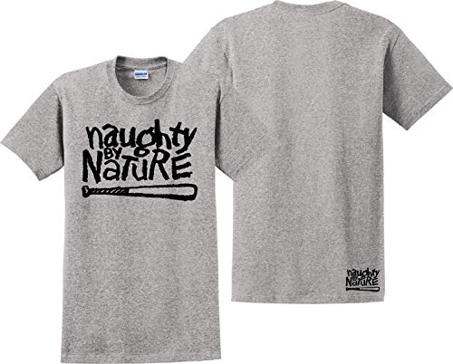 7905310697c Naughty by Nature T Shirt Hip Hop Trio 2Pac Death Row Unisex Tee Shirts Grey