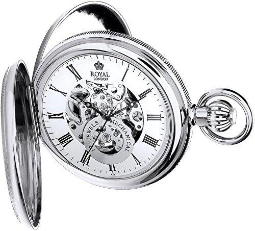 [ロイヤルロンドン] 懐中時計 90048-01 正規輸入品 シルバー