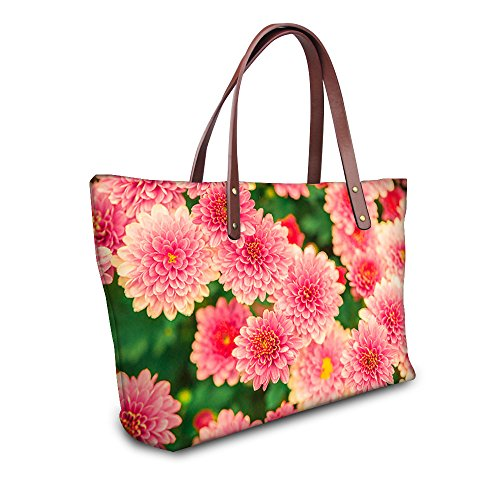 U Women Casual Waterproof 3 Floral Tote Pink Vintage Fashion FOR DESIGNS Bags Rose Handbag Print gnCZCqFx