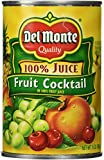 Del Monte Fruit Cocktail in 100% Fruit juices from Concentrate, 15-Ounce (Pack of 6)