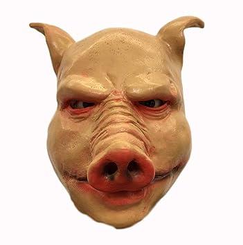 XINXIN Máscara De Cerdo Natural De Látex Máscara De Disfraces De Halloween