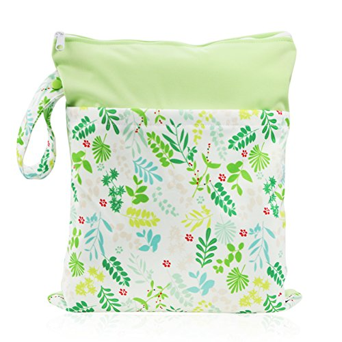 Hi Sprout Grab and Go Waterproof Washable Reusable Diaper Wet Dry Cloth Diaper Bags Dream Dragonfly