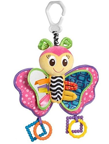 Playgro Blossom Butterfly Hanger Baby Rattles & Mobiles Toy for Bed Crib Cradle Cot Pram Stroller Pushchair with Soft Mirror (Toy Stroller Blossom)