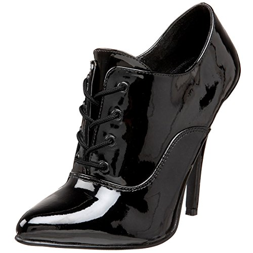 5 Inch Womens Sexy Shoes High Heeled Oxford Lace Up Pump Shoes Black Patent Size: 12 (High Heeled Oxford Shoe Sexy)