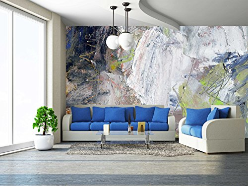 Cheap  wall26 - abstract multicolor layer artwork, opaque and transparent oil paint textures..