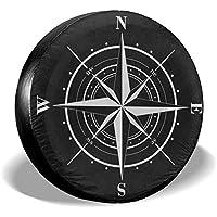 Linus-Store Cubierta del neumático de Repuesto Brújula Rosa