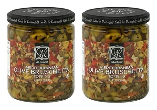 (Sable and Rosenfeld Mediterranean Olive Bruschetta, 16 Ounce (Pack of 2))
