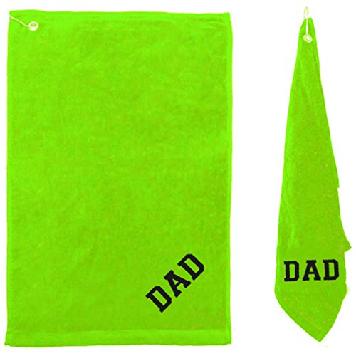 AshopZ Personalized Customized Terry Velour Cotton Hemmed Tri-Fold Golf Towel Lime
