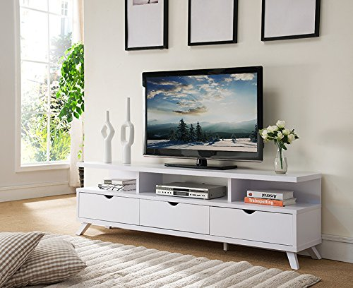 Amazon Com Smart Home 151280wh 75 Tv Stand Entertainment Center In