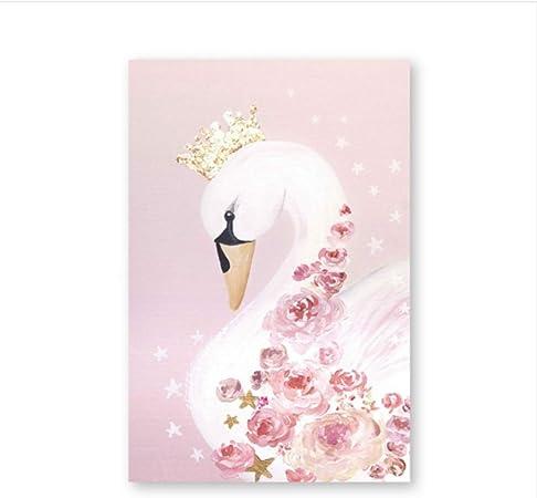 Cygne Princesse Sans Cadre Affiches Toile Peinture Bébé