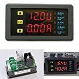 Jillier DC 90V 20A Multimeters Voltmeter Ammeter Dual Display LED Voltage Current Power Charge Capacity time Shunt 12v 24v car