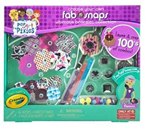 Pop art pixies fab snaps ultimate bracelet for Crayola pop art pixies fab snaps jewelry set