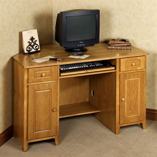 Touch of Class Aaron Corner Desk Honey (Corner Desk Honey)