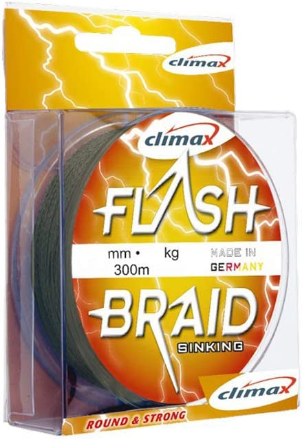 35.0Kg 0.40mm Climax Geflochtene Schn/üre Flash Braid Olive 73lb -300m