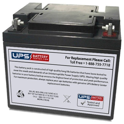 Koyosonic NP50-12 12V 50Ah Replacement Battery with T3 Terminal