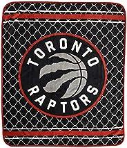 Nemcor NBA Toronto Raptors Silky Soft Throw, 40 in x 50 in, Black