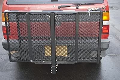 ALEKO MC400 400 Pound Capacity Wheelchair and Power Scooter Folding Cargo Carrier Rack with Foldable Ramp