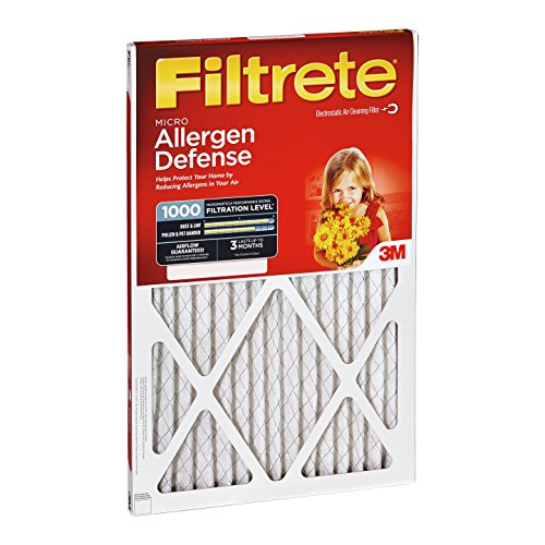 12x12x1, Filtrete Micro Allergen Air Filter, MERV 11, by 3m