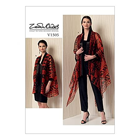 Vogue Ladies Easy Sewing Pattern 1505 Kimono Style Jackets: Zandra ...