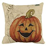 Decorative Pillow Cover - Halloween Thriller pillow, Laimeng Halloween Pumpkin Square Pillow Cover Cushion Case Pillowcase Zipper Closure