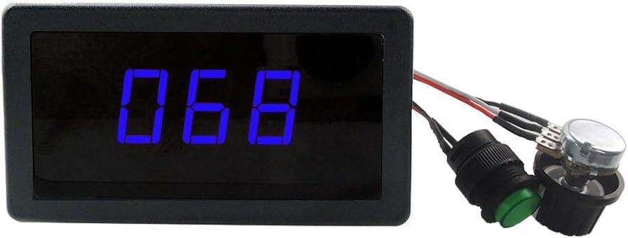 DC 6-30V PWM DC Motor Speed Controller LED Display IR Remote Switch Regulator